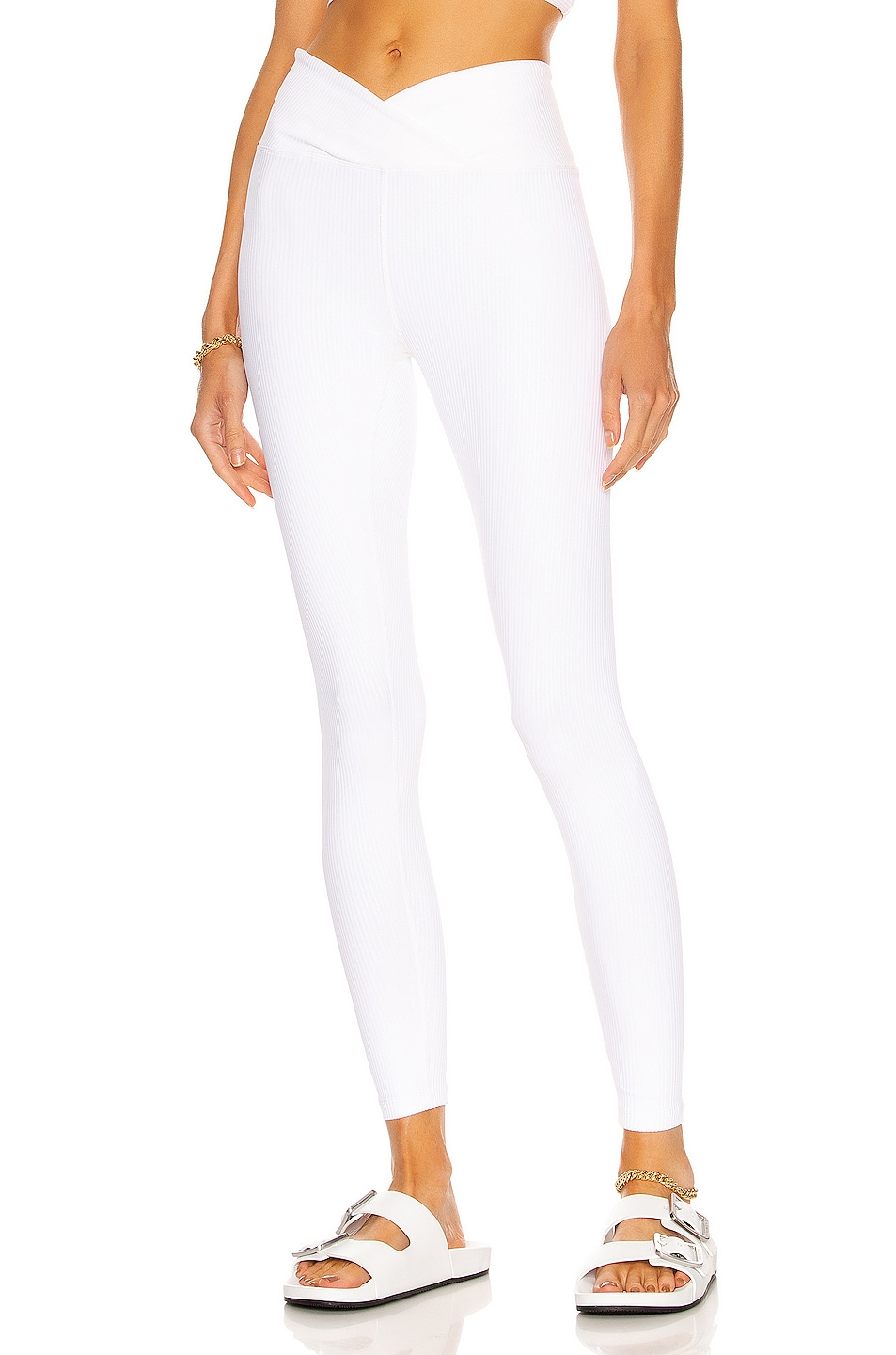 Image 1 of YEAR OF OURS Ribbed Veronica Legging in White