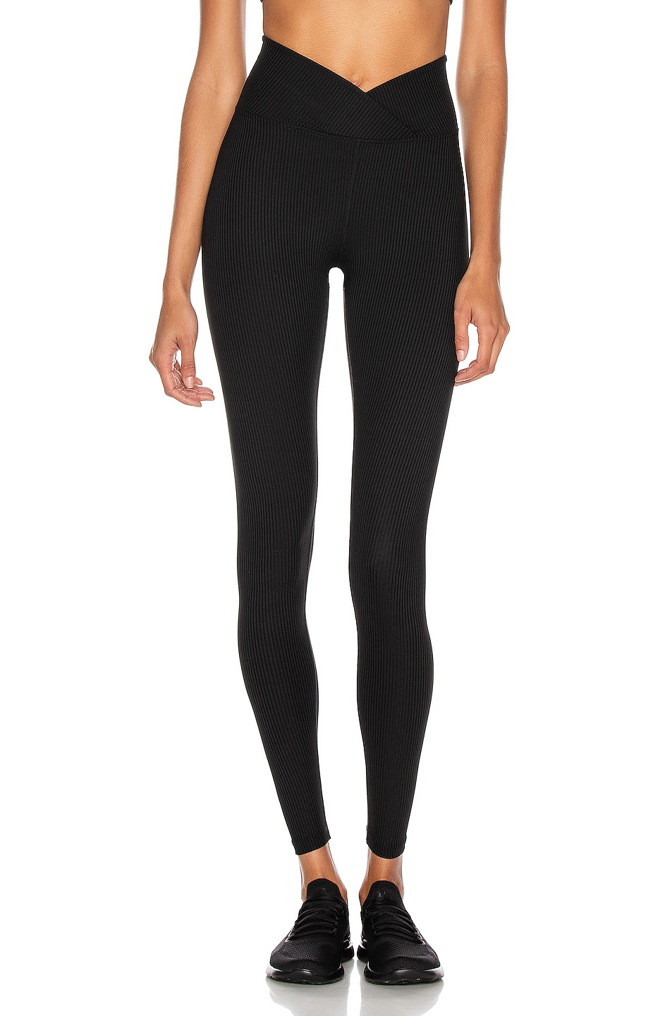 Image 1 of YEAR OF OURS Ribbed Veronica Legging in Black