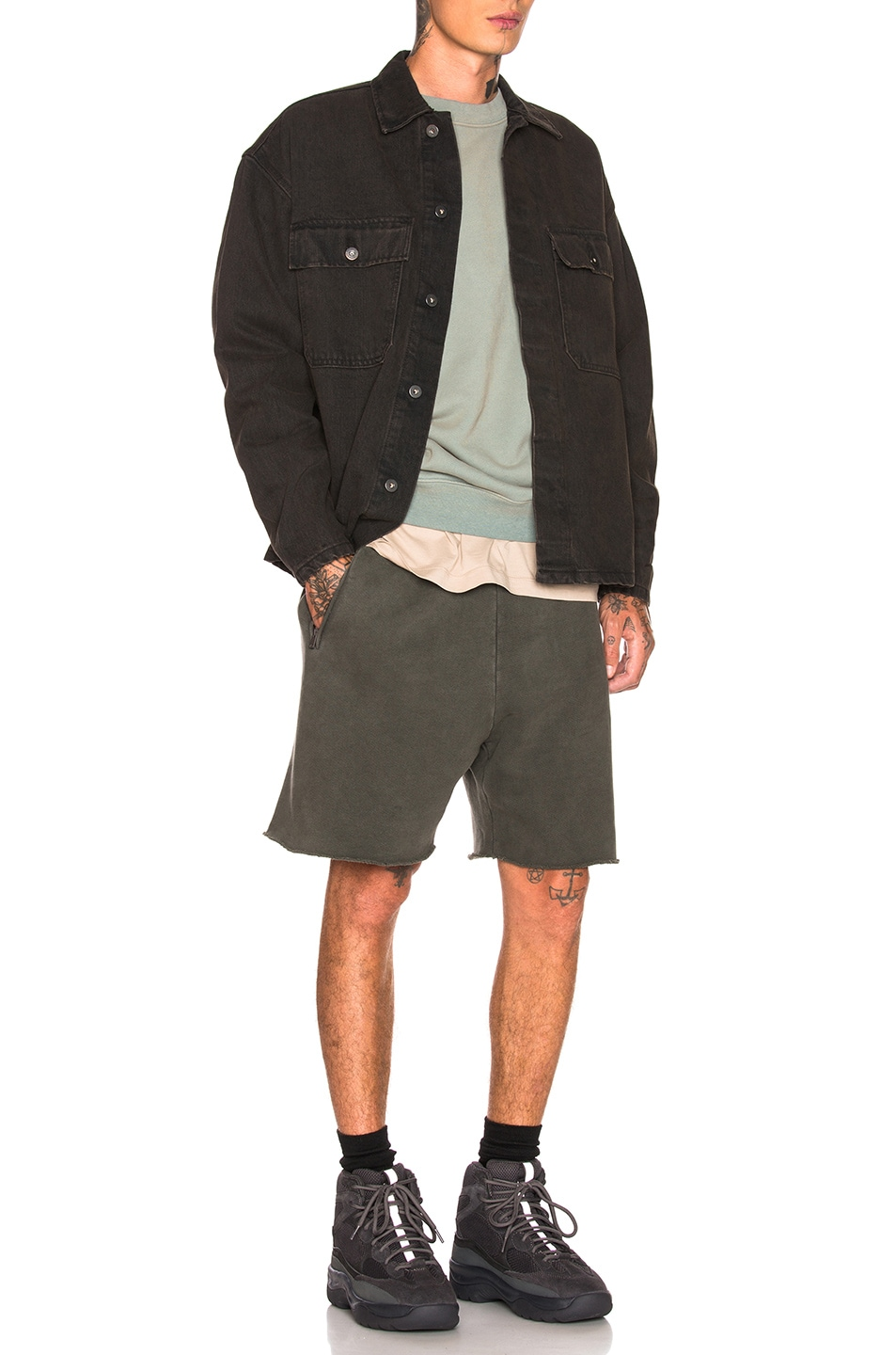 Image 4 of YEEZY Season 6 Sweatshorts in Core