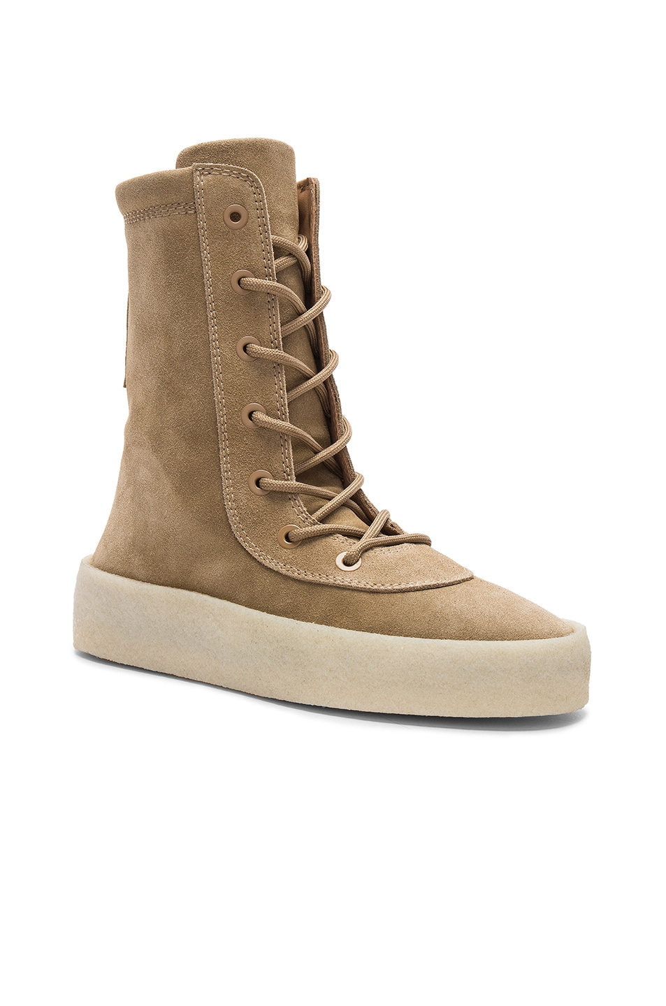 Image 1 of YEEZY Season 4 Suede Crepe Boots in Taupe