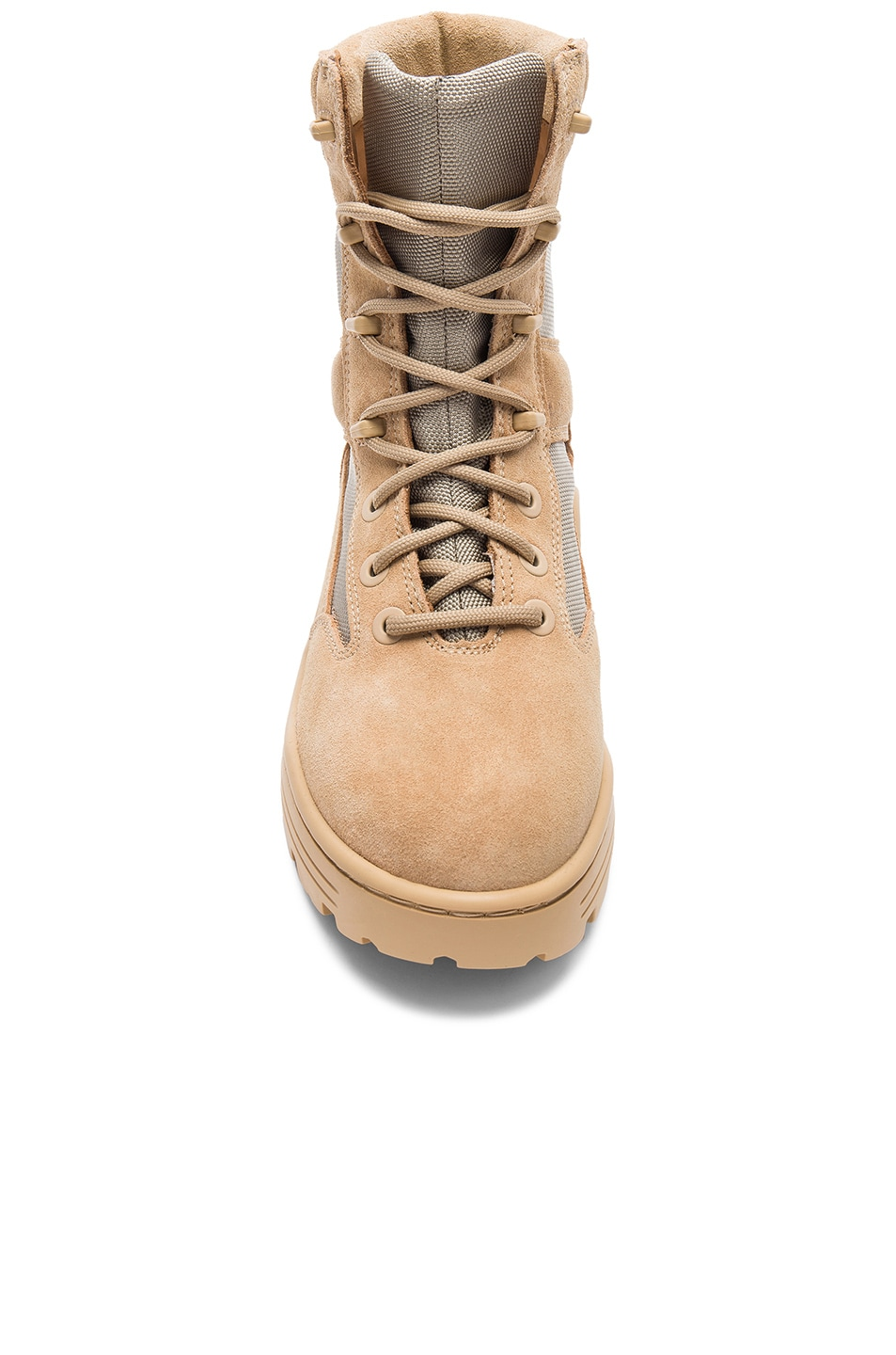 162a52158de0a Image 4 of YEEZY Season 4 Suede Combat Boots in Sand