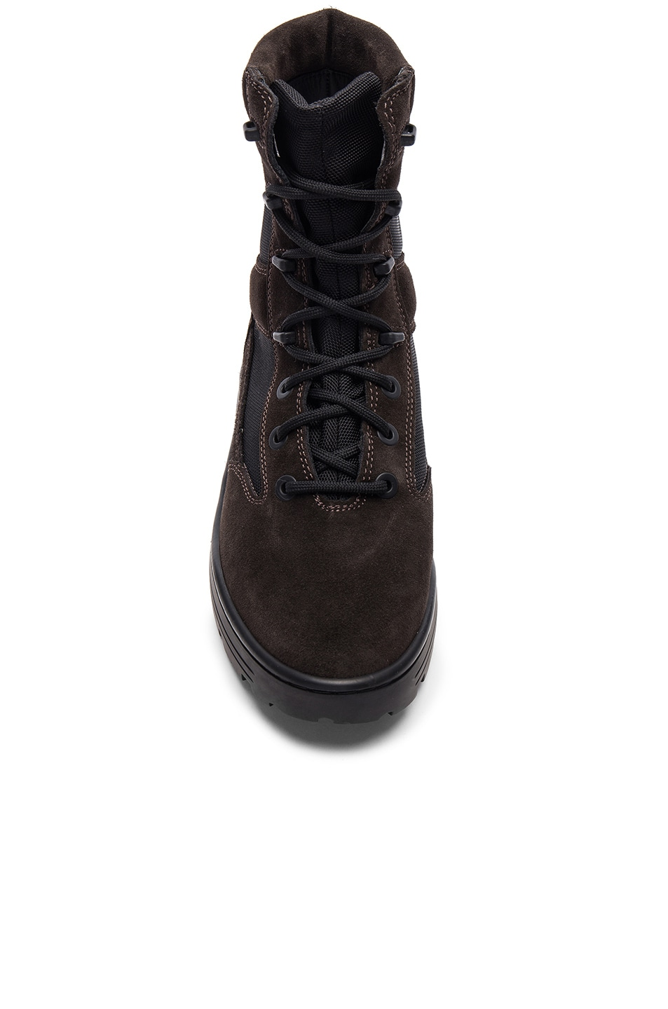 906ad21eee58a Image 4 of YEEZY Season 4 Suede Combat Boots in Oil