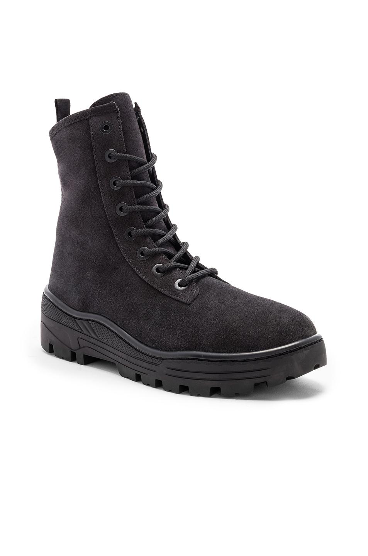 Image 1 of YEEZY Season 6 Suede Combat Boots in Graphite