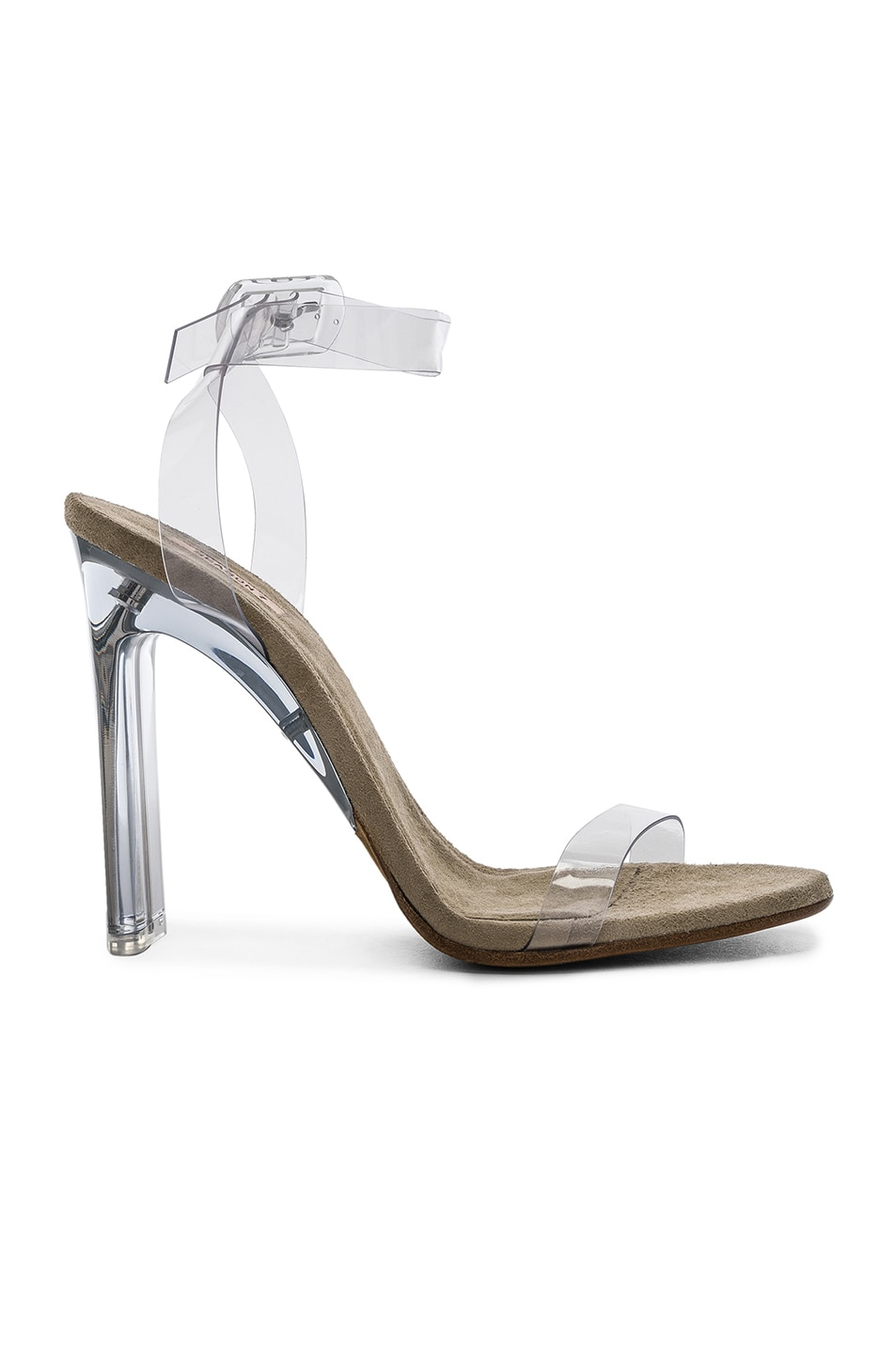 87bf4befb Image 1 of YEEZY Season 6 Ankle Strap PVC Heels in Clear