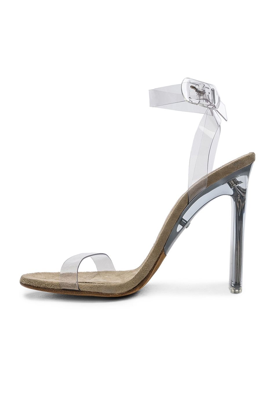 0ad58c767 Image 5 of YEEZY Season 6 Ankle Strap PVC Heels in Clear