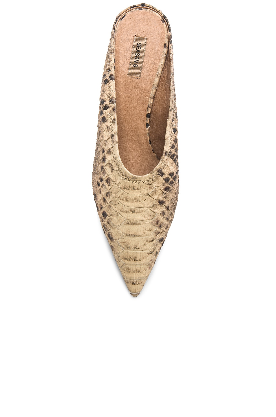Image 4 of YEEZY Season 6 Faux Python Embossed Leather Mule Pumps in Roccia Mesa