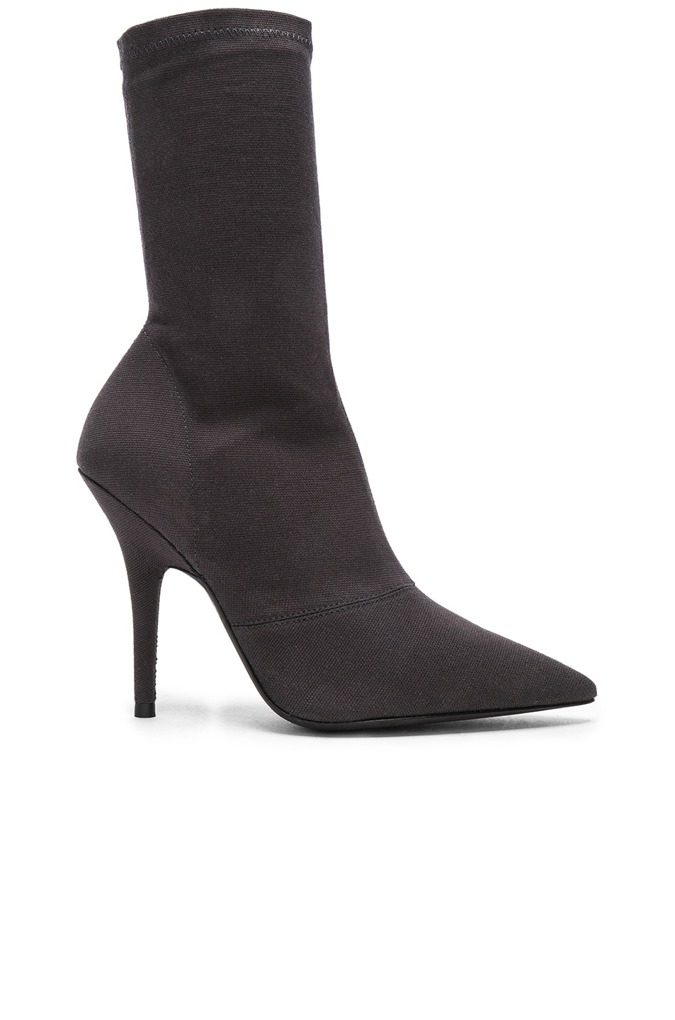 YEEZY SEASON 6 STRETCH CANVAS ANKLE BOOTS IN BLACK