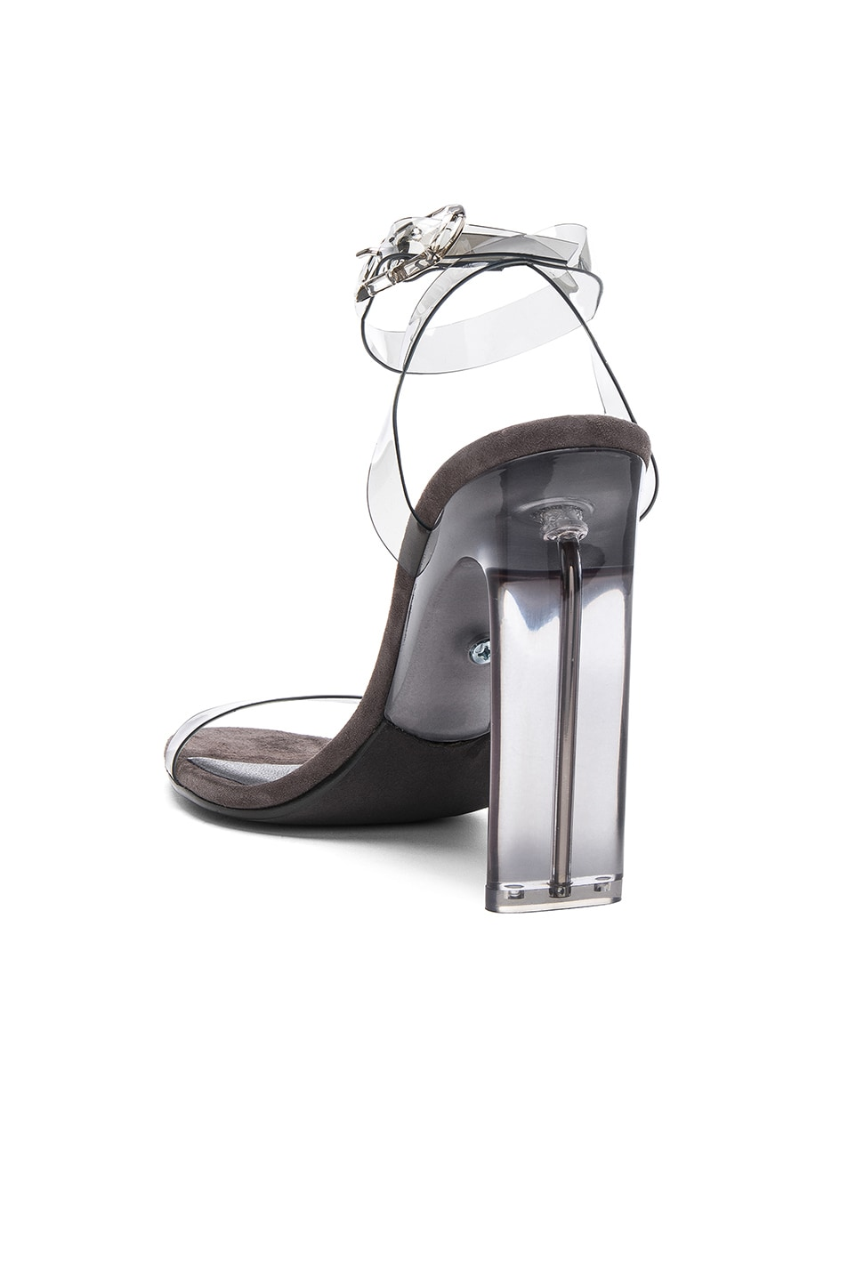 Image 3 of YEEZY Season 6 PVC Sandals with Ankle Strap in Smoke
