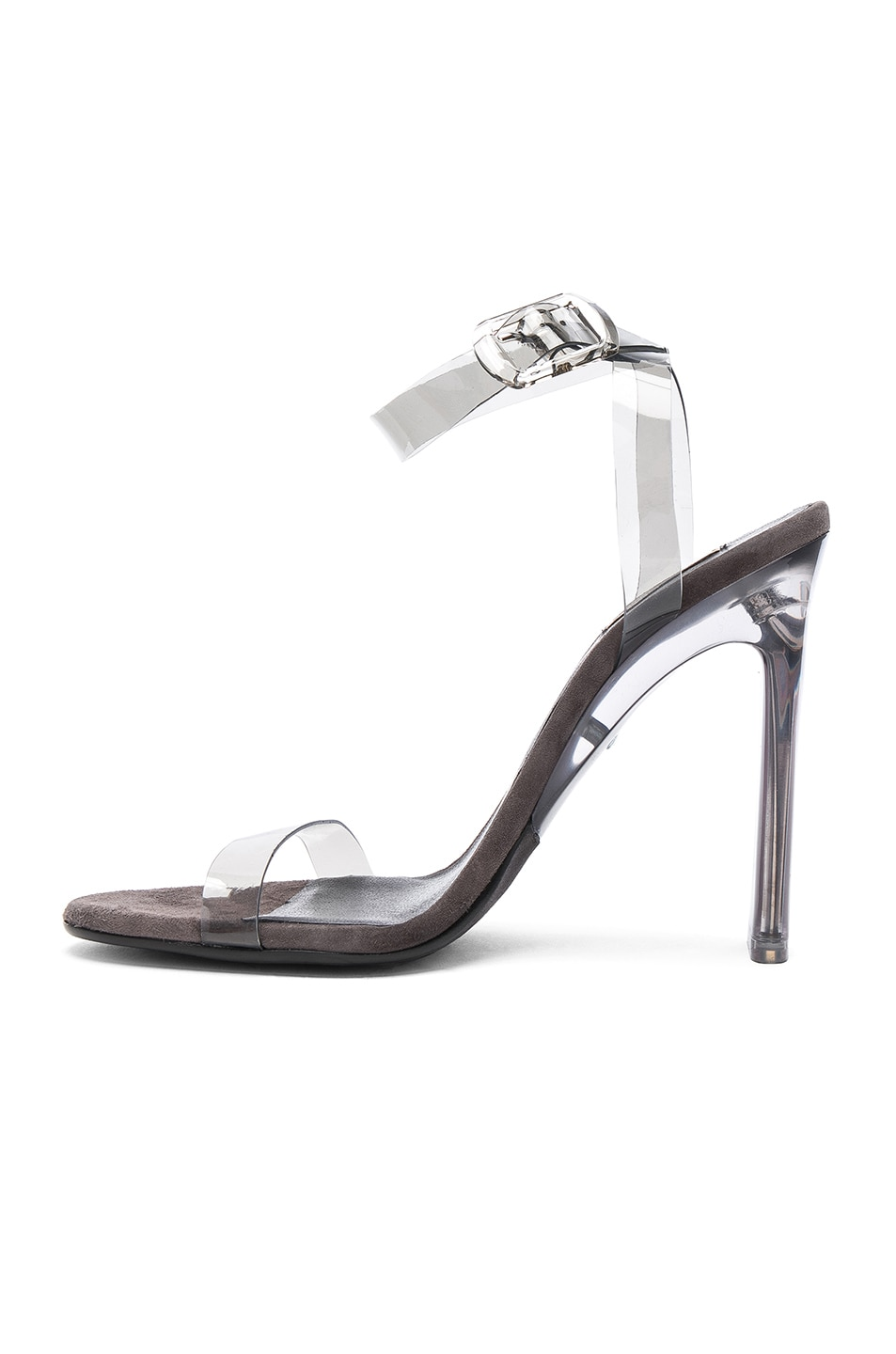 Image 5 of YEEZY Season 6 PVC Sandals with Ankle Strap in Smoke
