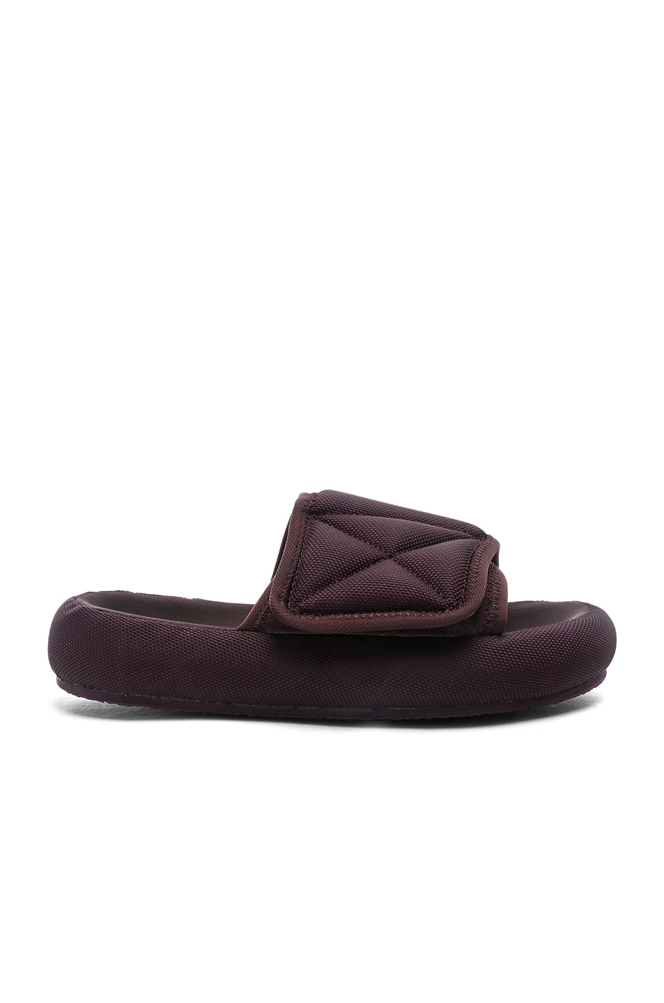 7b13f1550566 Image 1 of YEEZY Season 6 Nylon Slippers in Oxblood