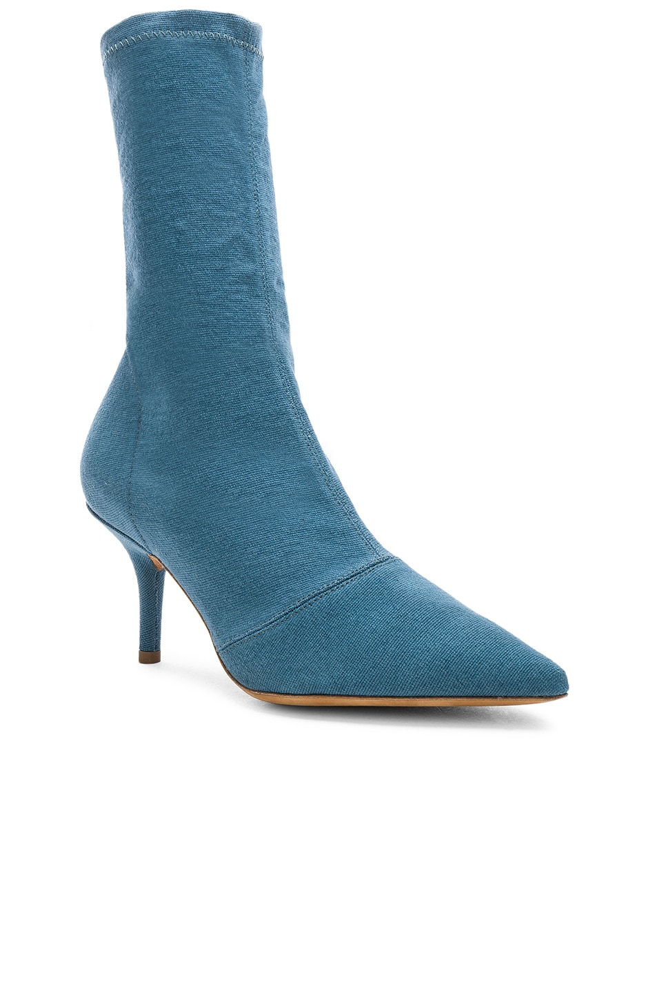 Image 2 of YEEZY Season 7 Stretch Ankle Bootie in Aqua