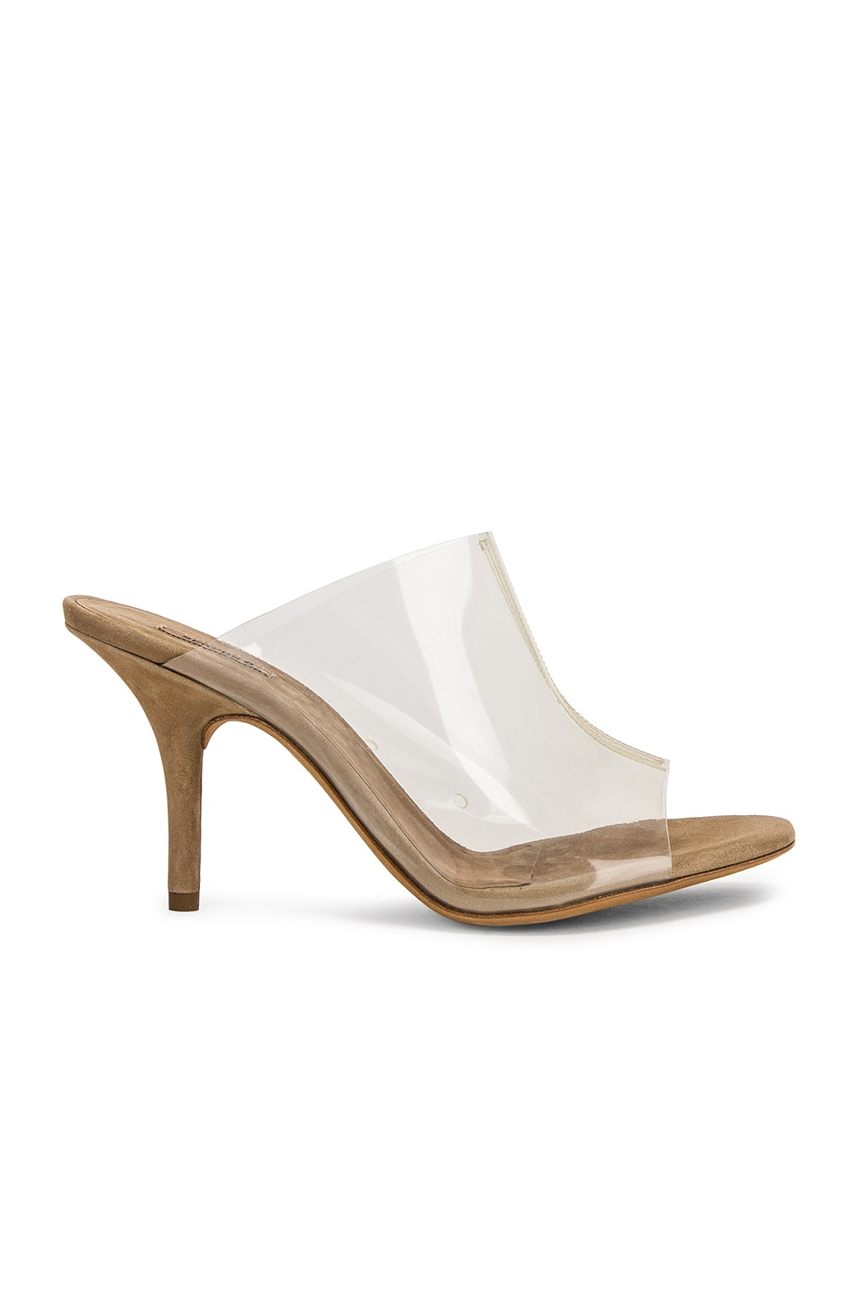 Image 1 of YEEZY Season 8 PVC Mule in Clear & Taupe