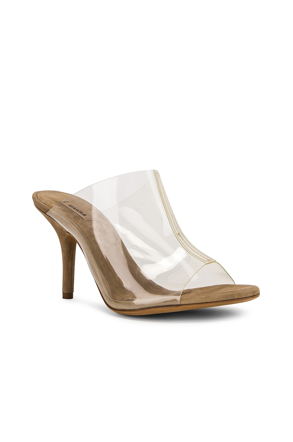 Image 2 of YEEZY Season 8 PVC Mule in Clear & Taupe