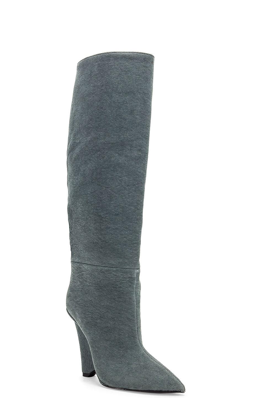 Image 2 of YEEZY Season 8 Wedge Knee High Boot in Balsam Green