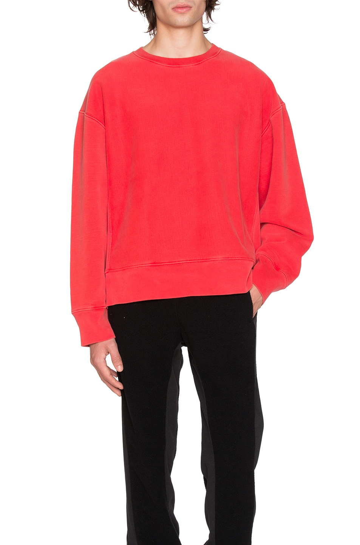 YEEZY Season 3 Crewneck Sweatshirt in Fluoro Red | FWRD