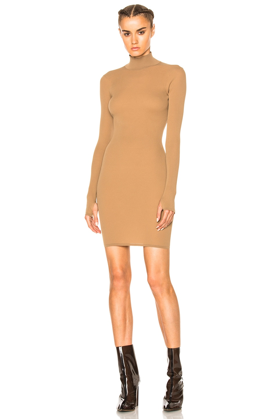 Image 1 of YEEZY Season 3 High Neck Mini Dress in Desert