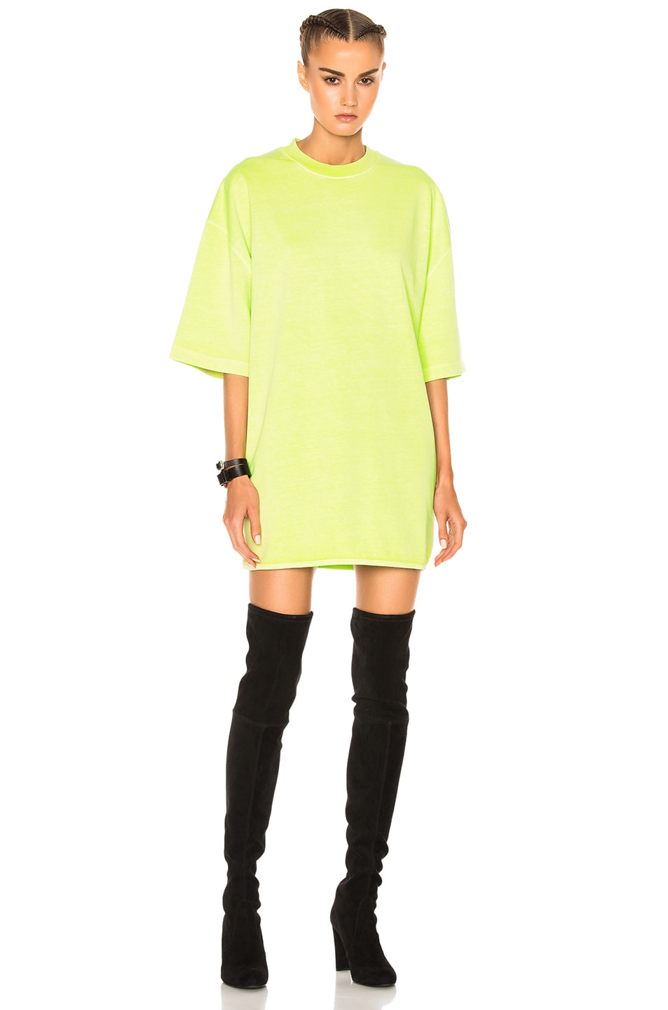 Image 1 of YEEZY Season 3 Heavy Knit Tee in Limelight