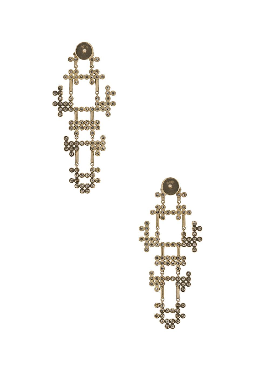 Image 3 of Yannis Sergakis Earrings in Yellow & Black Gold
