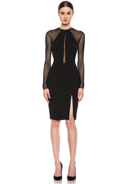 Image 1 Of Yigal Azrouel Bi Stretch Nylon Blend Tech Dress In Black
