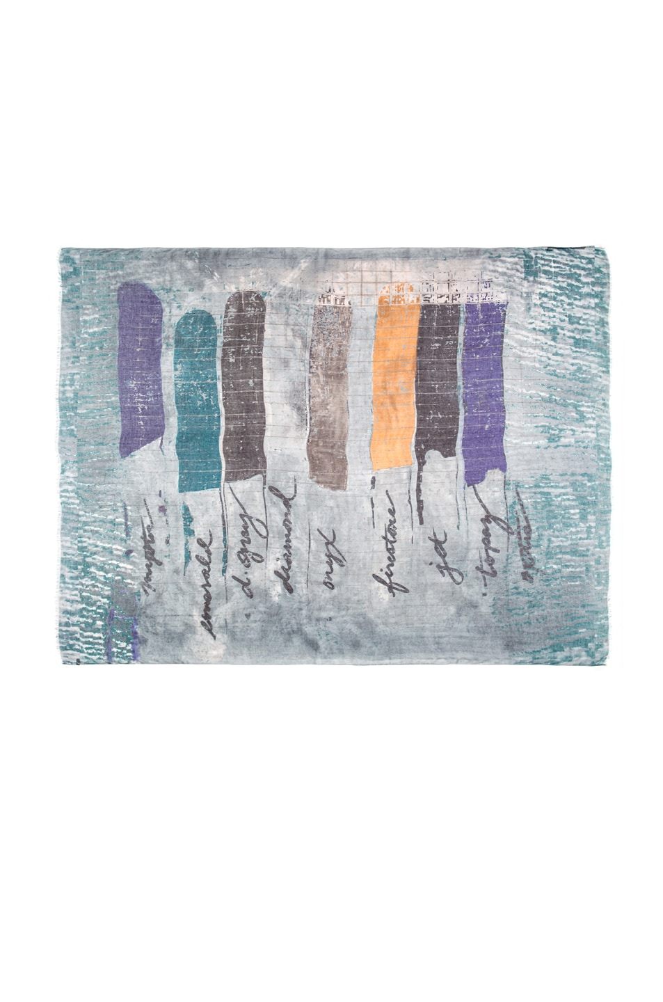 Image 1 of Yigal Azrouel Color Chips Cashmere & Modal Scarf in Diamond Multi