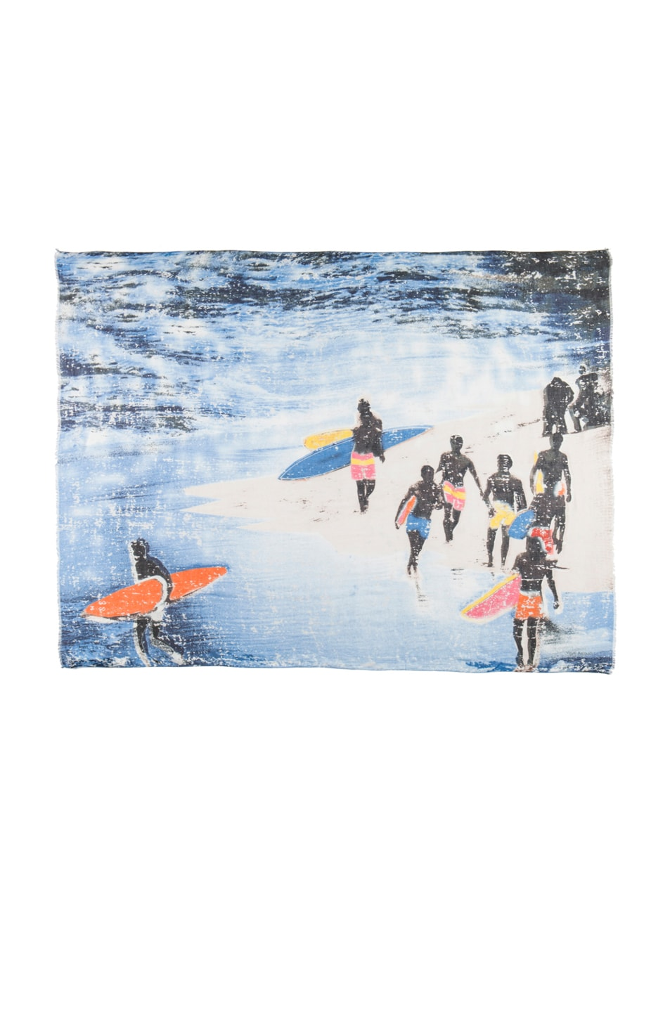 Image 1 of Yigal Azrouel Surf Print Scarf in Capri Multi