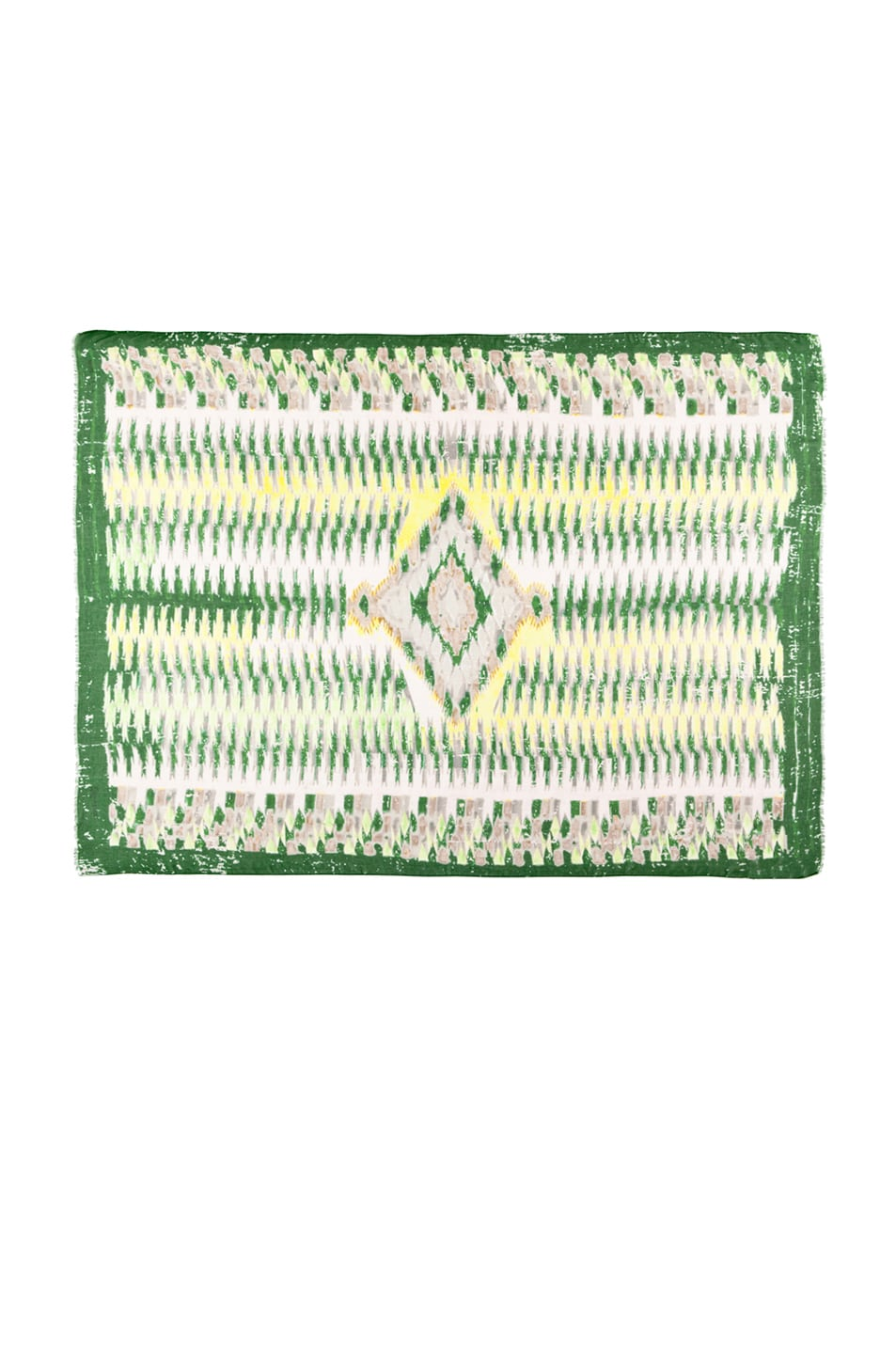Image 1 of Yigal Azrouel Diamond Printed Scarf in Jungle