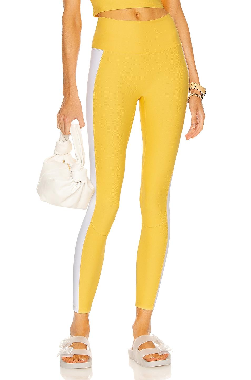 Image 1 of Nylora Levee Legging in Marigold & White Combo