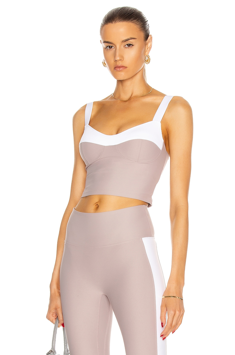 Image 1 of Nylora Marne Tank in Mauve & White Combo