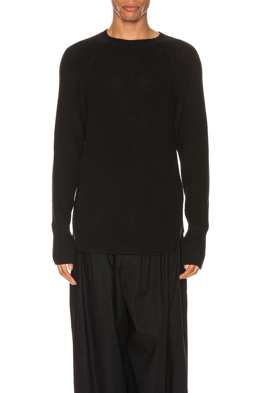 Image 1 of Yohji Yamamoto Full Cardigan Pullover in Black