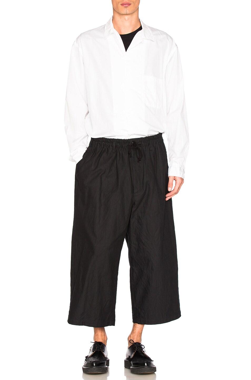 Image 5 of Yohji Yamamoto Side Tape Wide Elastic Trousers in Black