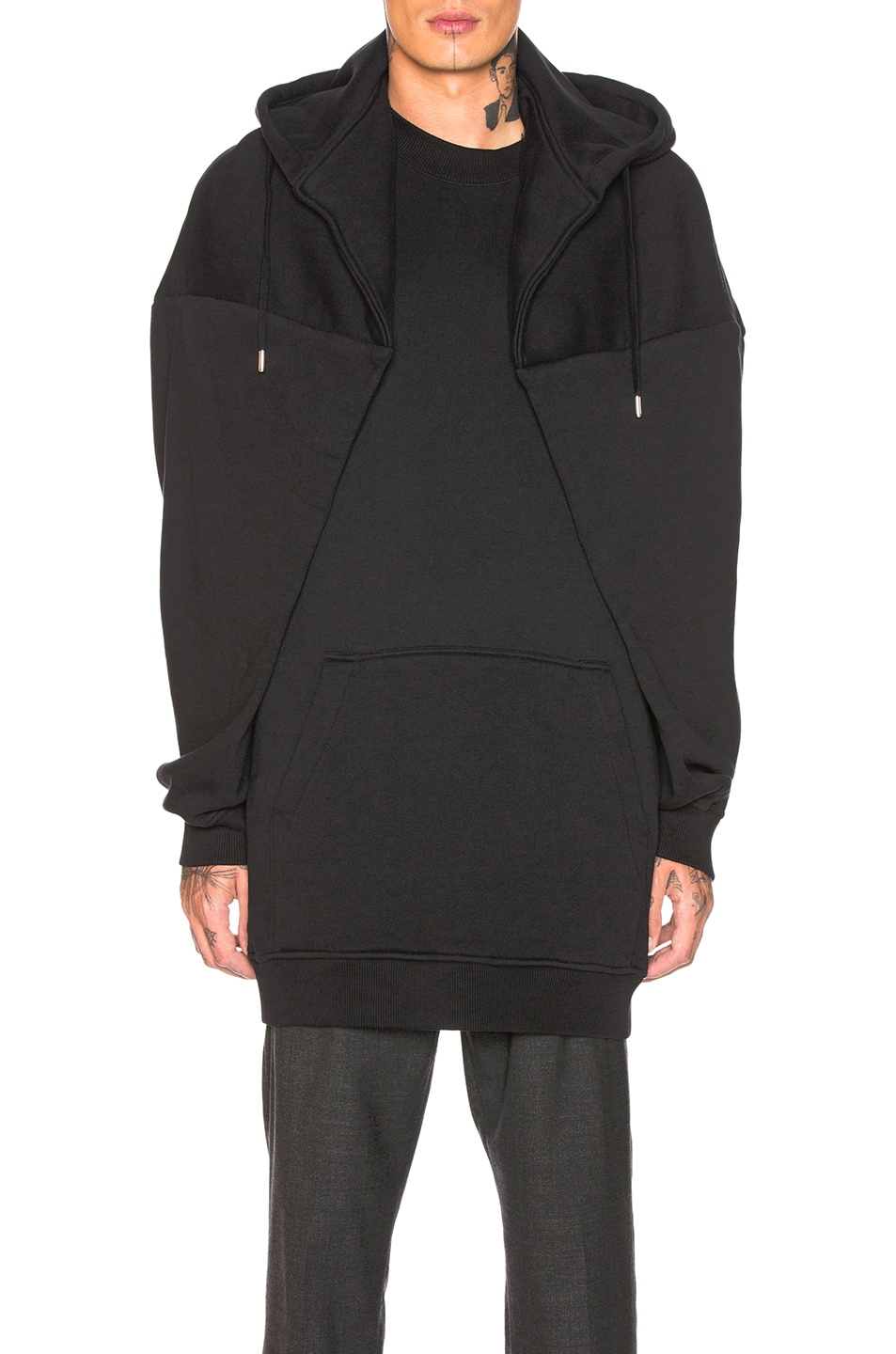 Image 1 of Y/Project Paneled Hoodie in Black