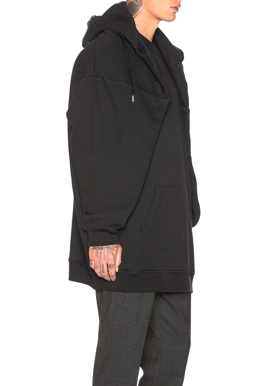 Image 2 of Y/Project Paneled Hoodie in Black