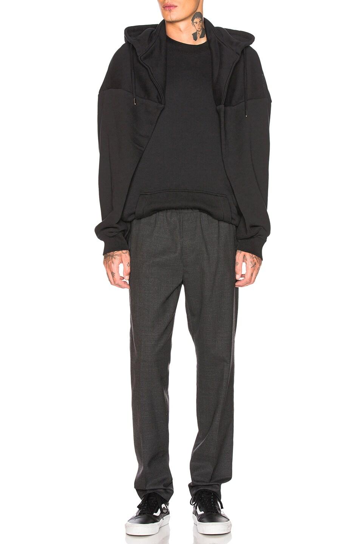 Image 4 of Y/Project Paneled Hoodie in Black