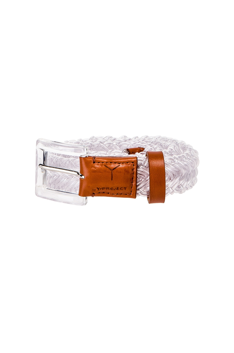 Image 1 of Y/Project Transparent Braided Belt in Transparent