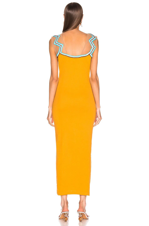 Image 3 of Y/Project Zig Zag Beaded Dress in Mustard