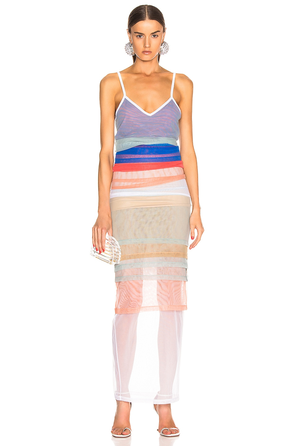 Image 1 of Y/Project Rainbow Dress in Blue