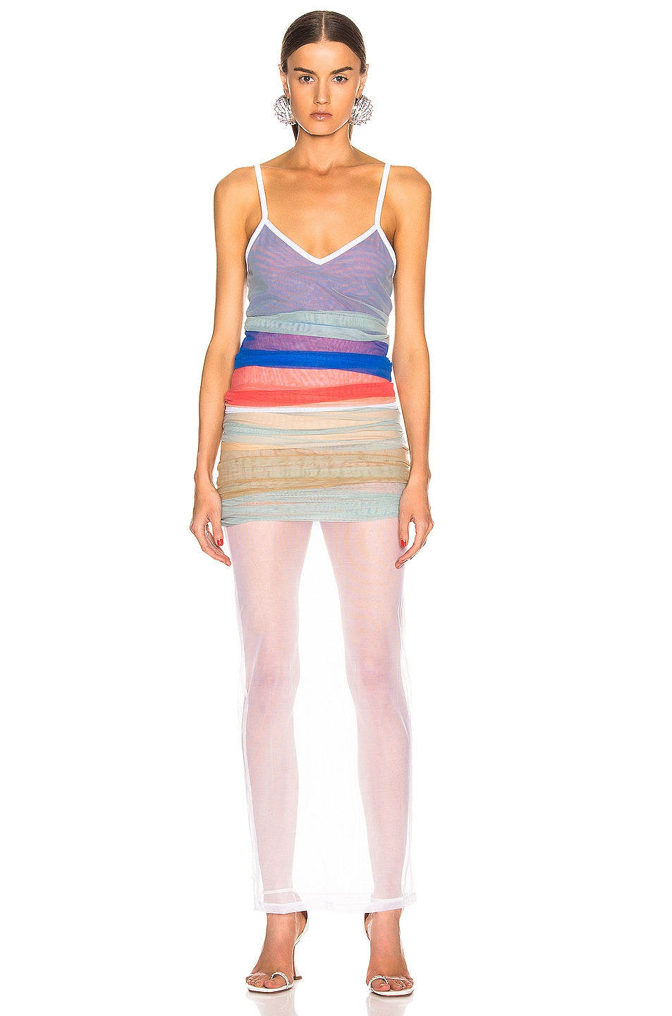 Image 2 of Y/Project Rainbow Dress in Blue