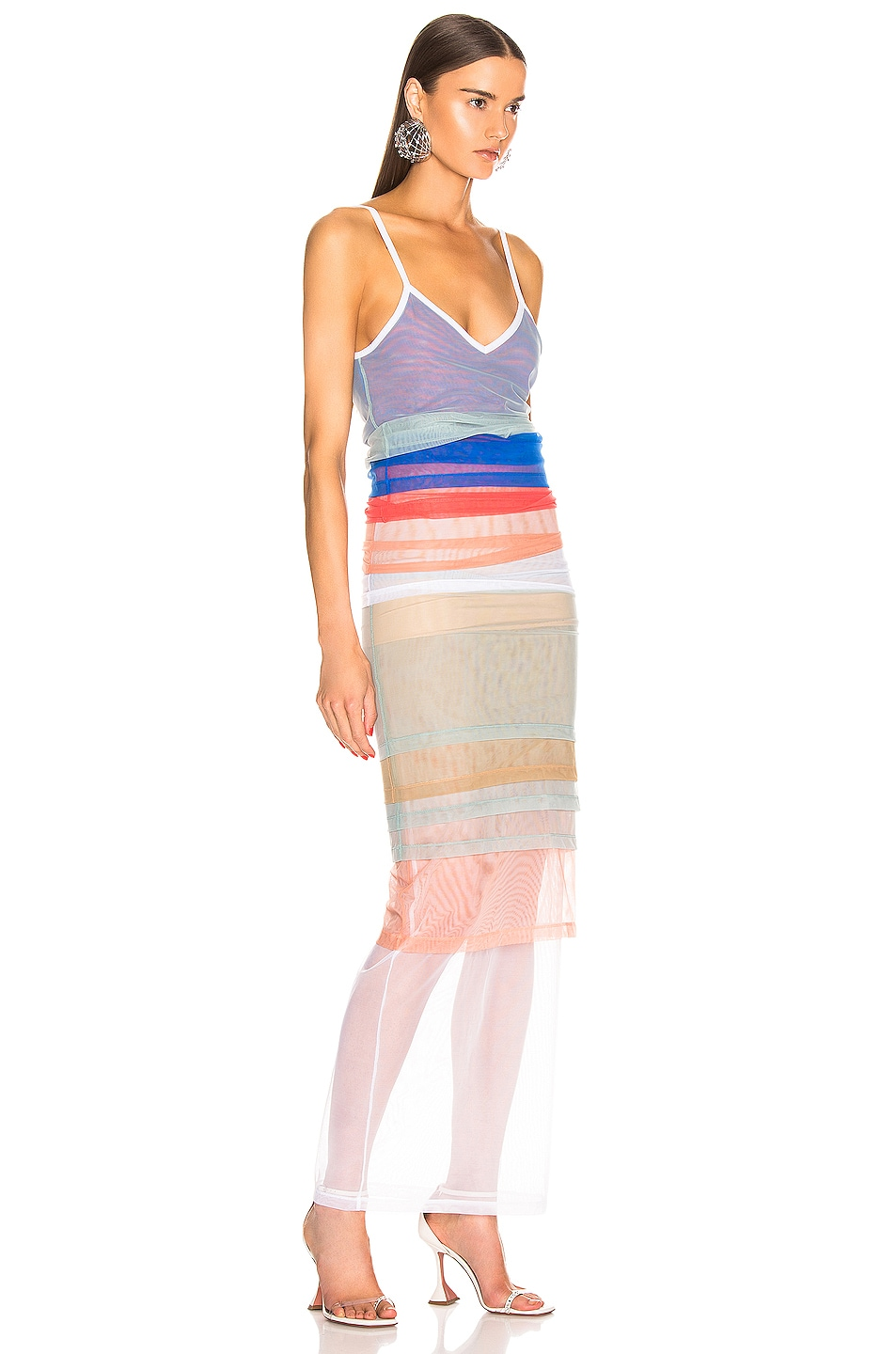 Image 3 of Y/Project Rainbow Dress in Blue