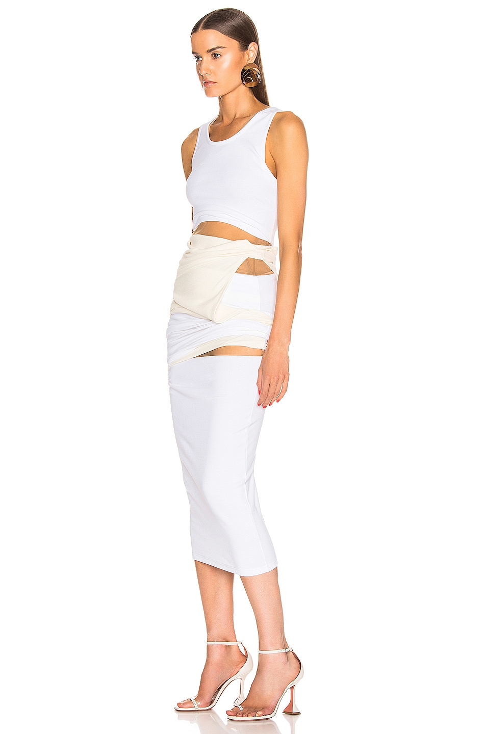 Image 3 of Y/Project Multi Layer Dress in Off White
