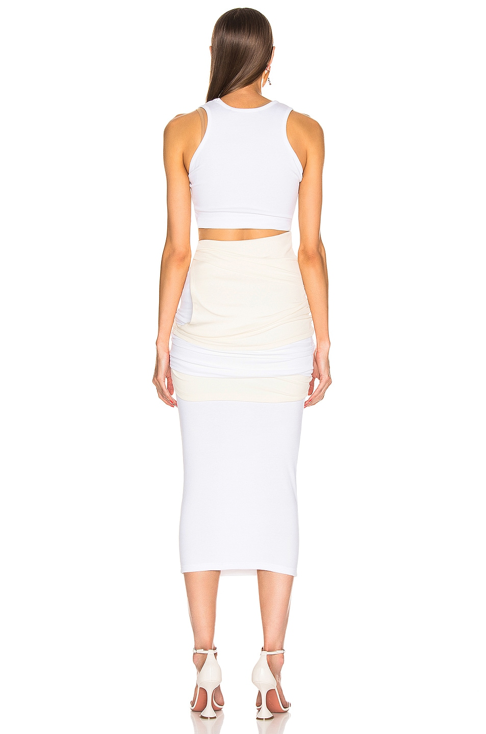 Image 4 of Y/Project Multi Layer Dress in Off White