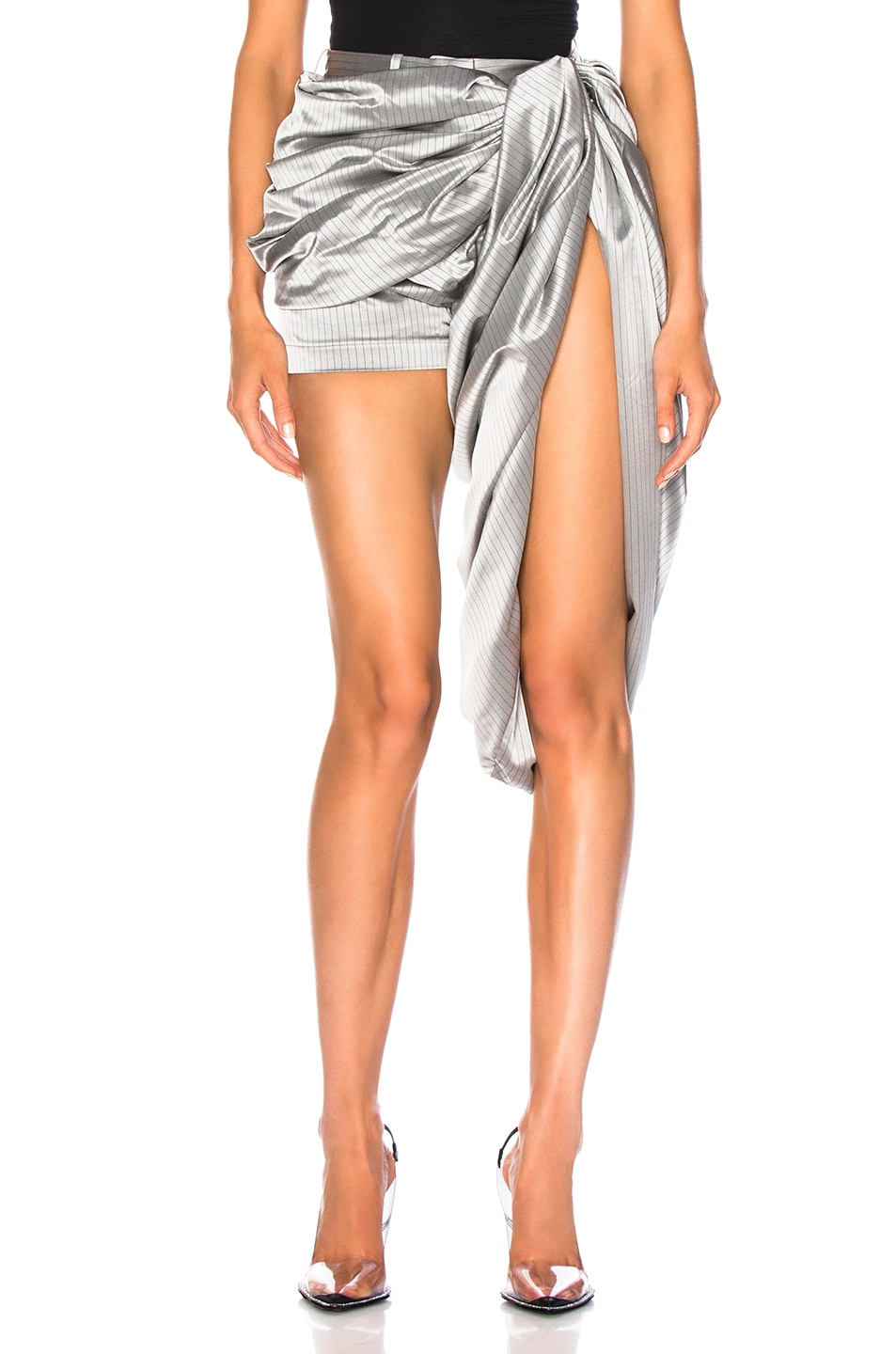 Image 1 of Y/Project Draped Short in Silver