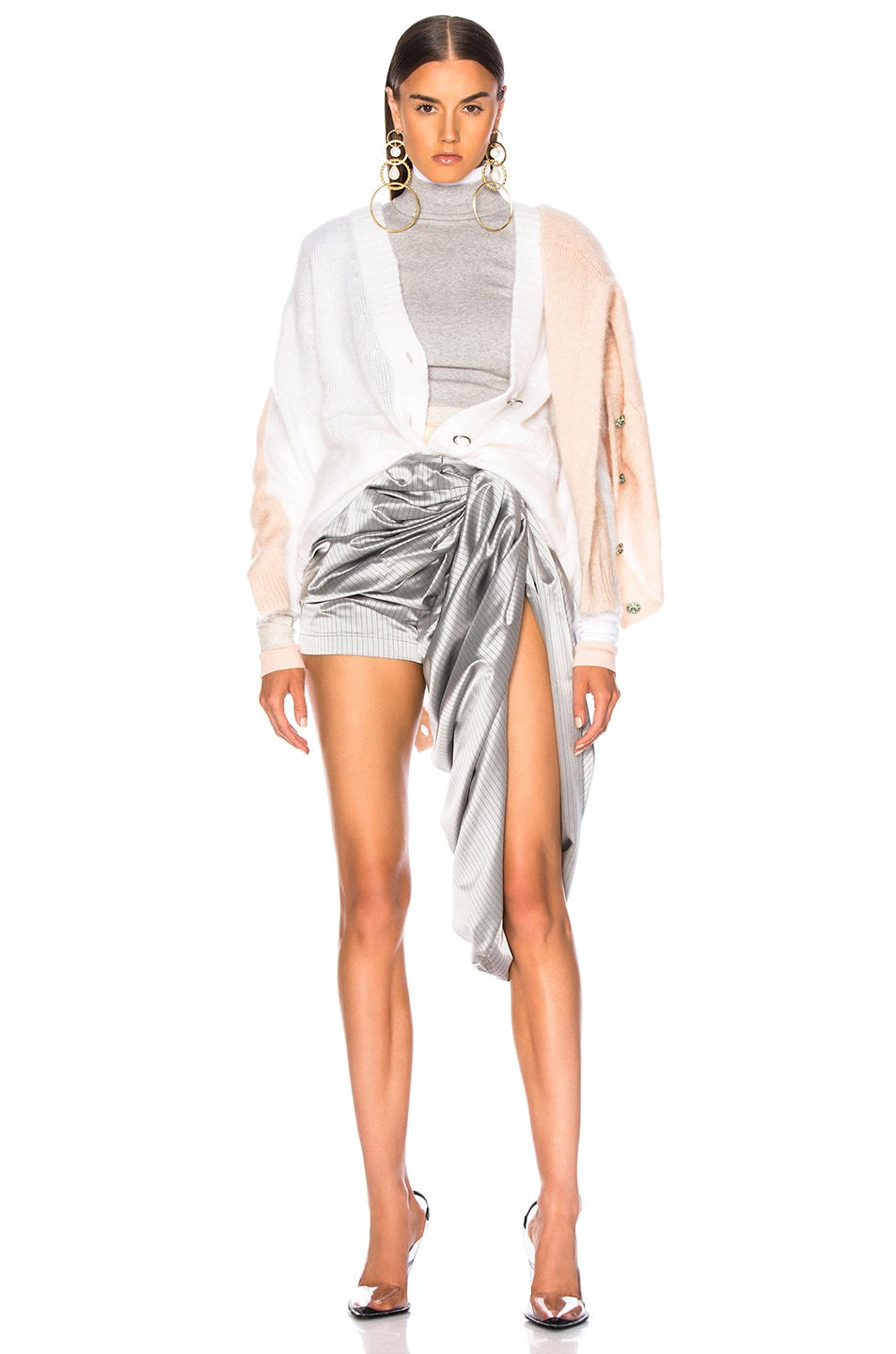 Image 5 of Y/Project Draped Short in Silver