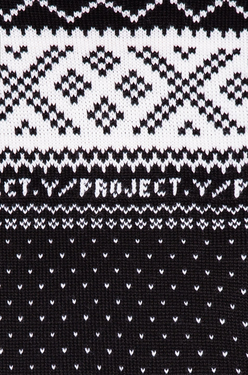 Image 7 of Y/Project Norwegian Paneled Sweater in Black