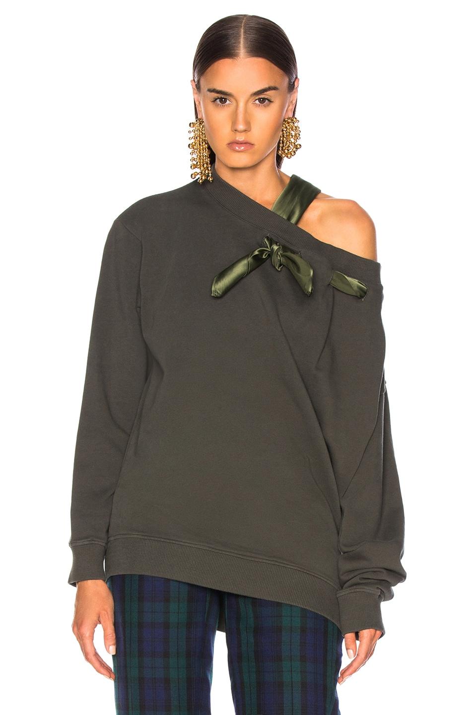 Image 3 of Y/Project Scarf Sweatshirt in Khaki