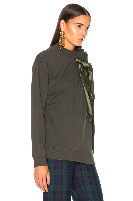 Image 4 of Y/Project Scarf Sweatshirt in Khaki