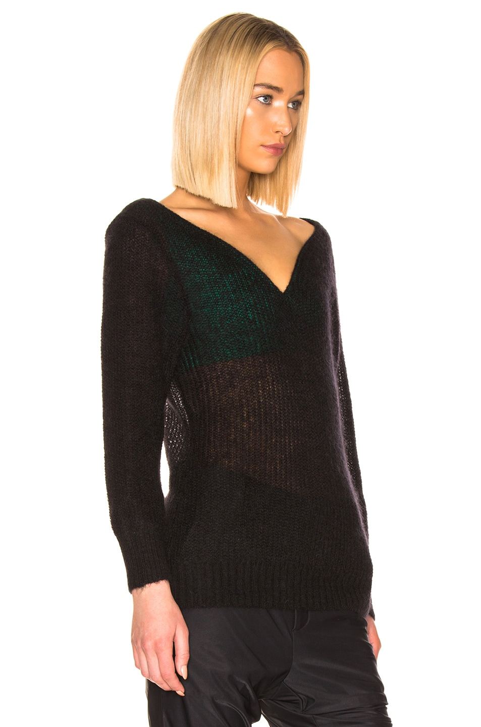 Image 2 of Y/Project Off Shoulder Sweater in Black