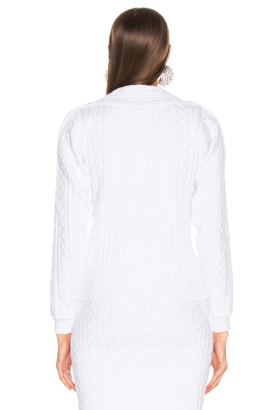 Image 5 of Y/Project V Neck Sweater in White