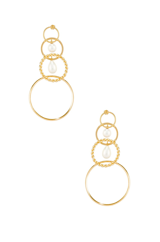 Image 3 of Y/Project Loop Earrings in Gold