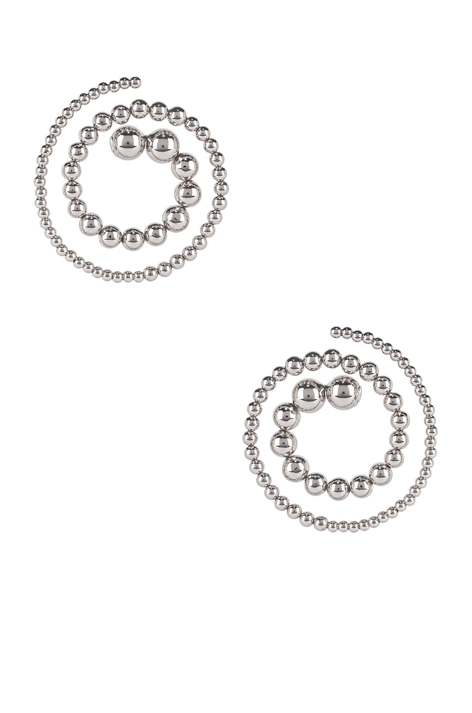 Image 1 of Y/Project Pearl Spiral Earrings in Silver