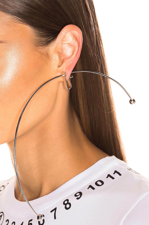 Image 2 of Y/Project Semi Hoop Earring in Silver